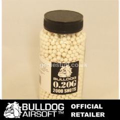 2000 White BullDog Airsoft BB Ammo 0.20g